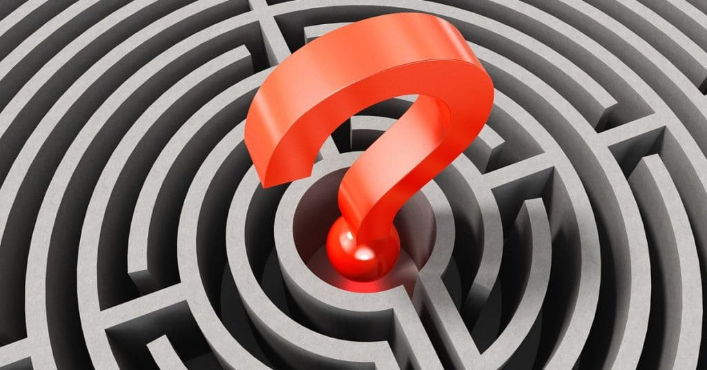 question mark labyrinth.