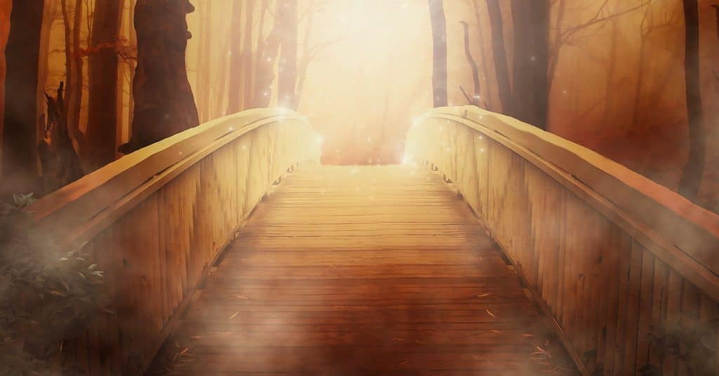 Bridge leading to what is manifesting