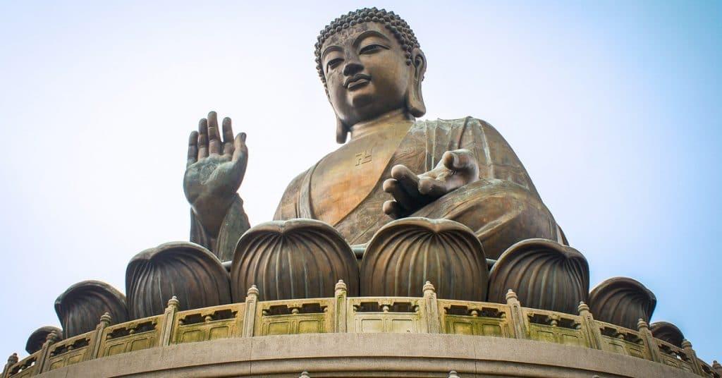 Buddha in hong kong representing raising consciousness