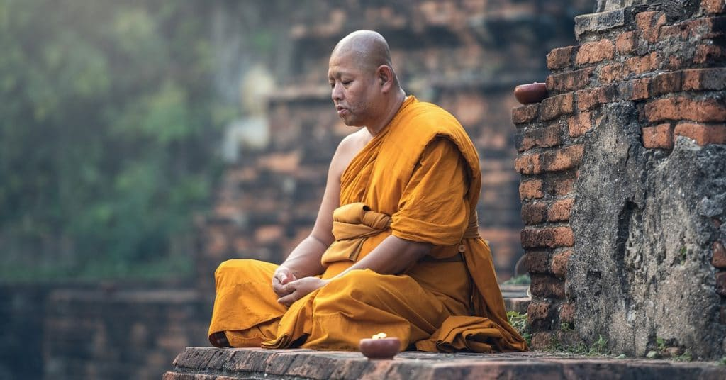 buddhist monk zen meditation