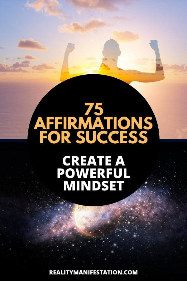 empowered woman using affirmations