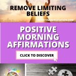 Morning affirmations and removing limiting beliefs pinnable image