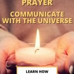 manifestation prayer communicate with the universe pin
