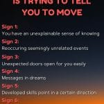 7 signs the universe wants you to move