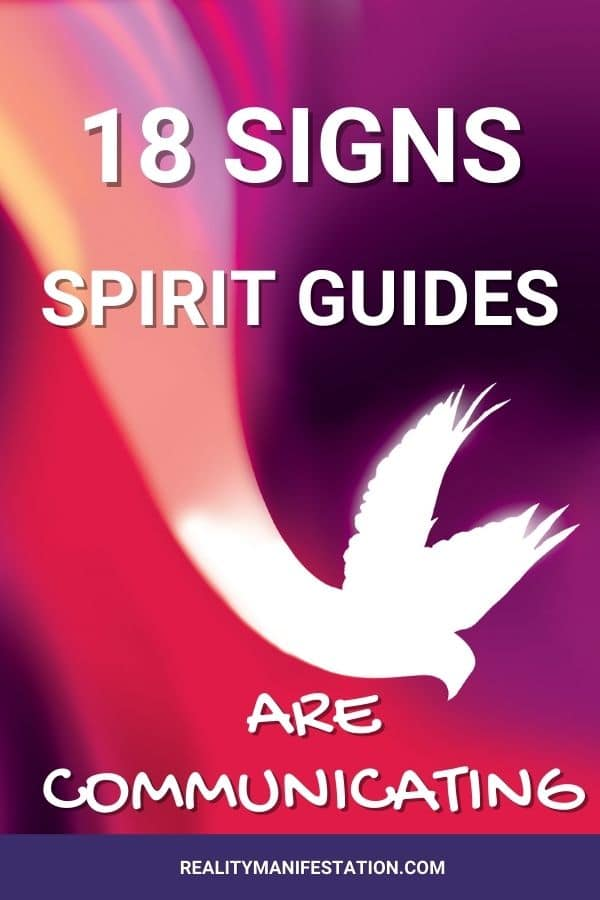 18 signs spirit guides are communicating pinterest image