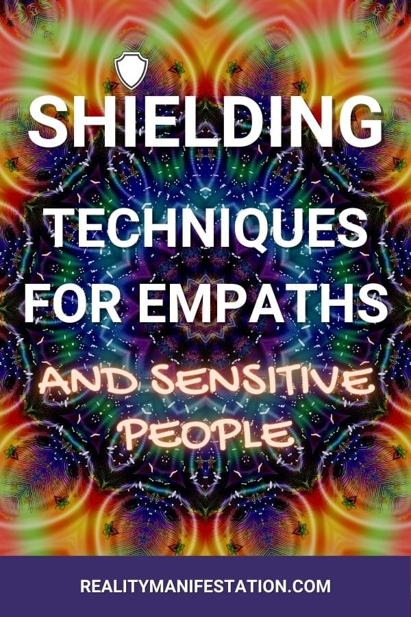Shielding techniques for empaths and sensitive people pin