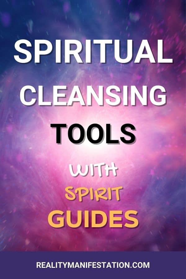 Spiritual Cleansing tools with spirit guides pin